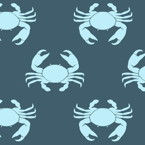 crabs (blue on blue) - nautical C19BS