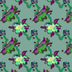 Abstract Flower - Green
