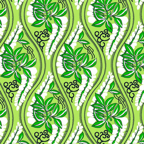 Tropical Isla Ogee- Lime Green