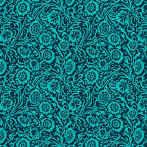 Tropical Odessa Floral- Navy and Aqua