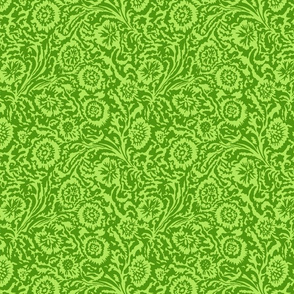 Tropical Odessa Floral- Lime Green