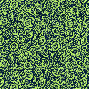 Navy and Citron Tropical Odessa Floral