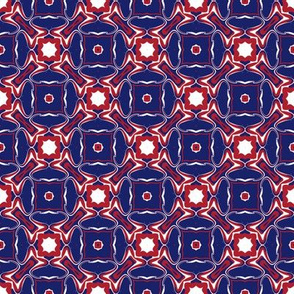 Montreal Canadiens Hockey Geometric Circles in Triangles Team Colors Blue Red White