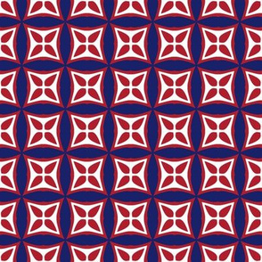 Montreal Canadiens Hockey Geometric Team Colors Blue Red White