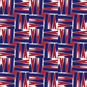 Montreal Canadiens Hockey Basket Weave Team Colors Blue Red White