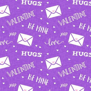 valentine - hearts - letters love - purple - LAD19