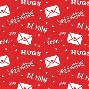 valentine - hearts - letters love - red - LAD19