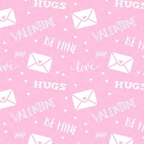 valentine - hearts - letters love - pink  - LAD19