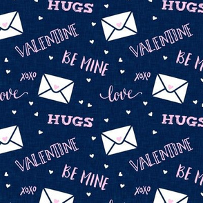 valentine - hearts - letters love - blue - LAD19