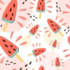 Summer watermelon pop ice