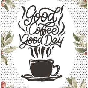 "54""x72"" Good Coffee Good Day Adult Blanket"