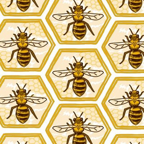 Bee Hex Large