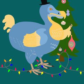 Christmas bird cushion