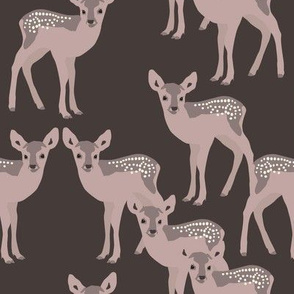 Fawn on dark chocolate