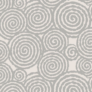 Gena Swirl- Light Grey and Ivory