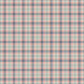 Plaid Navy_ coral_ teal