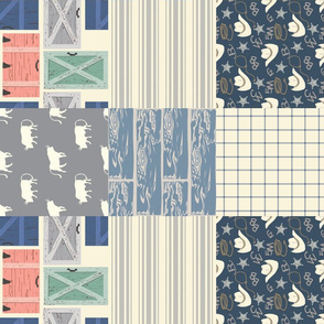 Cowboy Navy Cheater quilt