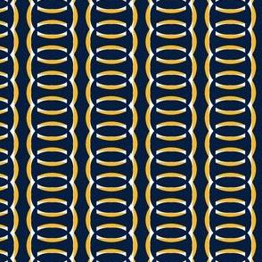 Nashville Predators Hockey Chain Stripes Team Colors Gold White Navy Blue