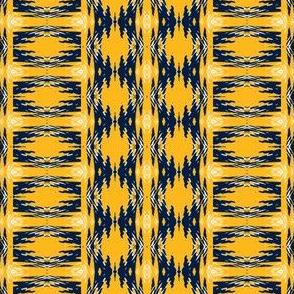 Nashville Predators Hockey Southwest Pattern Team Colors Gold White Navy Blue