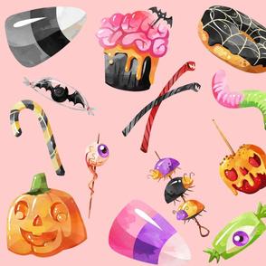 Pastel Pink Halloween Treats