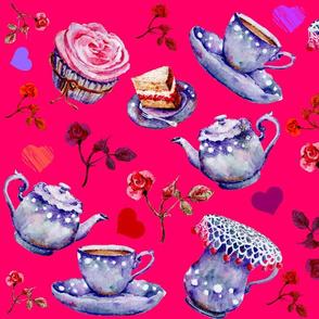 Fushia Tea Time