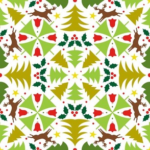 Kaleidoscope of Christmas Trees