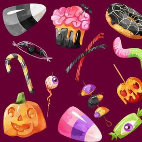 Purple Halloween Treats