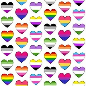 Pride Hearts Small
