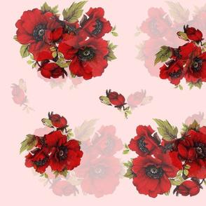 Chintz Red Poppy print