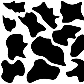 Abstract cow print