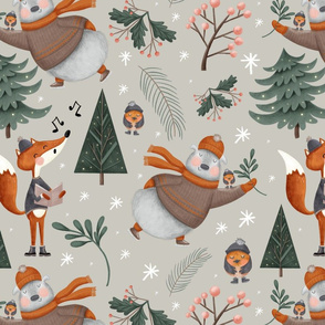 Woodland Winter Pattern 1