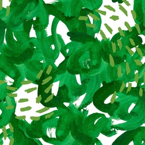 green brush strokes
