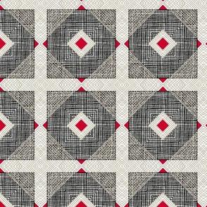 Geometric Mesh Squares, Cityscape