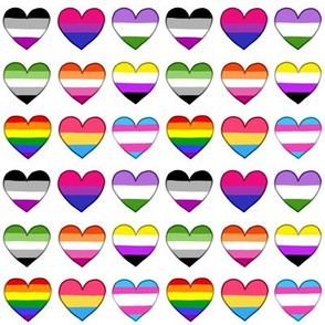 Pride Hearts Grid Small