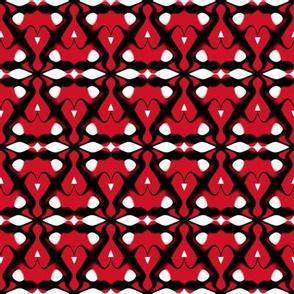 New Jersey Devils Geometric Diamonds Team Color Hockey Red Black White
