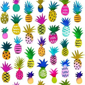 pineapple fun - white, small