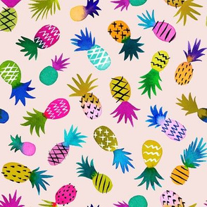 pineapple fun whimsical - blush, small