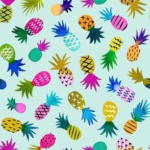 pineapple fun whimsical - mint, small
