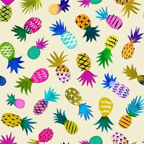 pineapple fun whimsical - cream, small