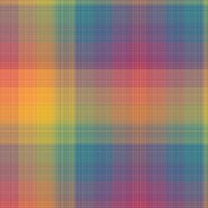 Fine Rainbow Plaid - Large Scale