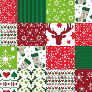patchwork christmas pattern