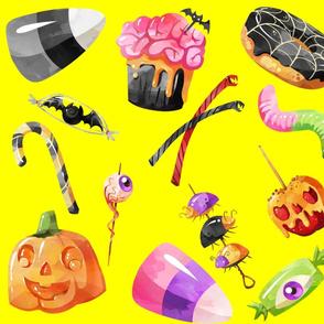 Yellow Halloween Treats
