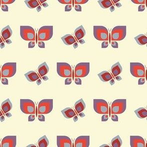 Geometric leaning retro butterfly vector pattern design.