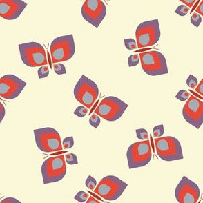 Geometric scattered butterfly vector pattern design.