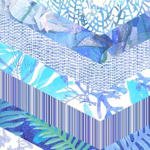 Frondosa Lavender Blue Quilt 150
