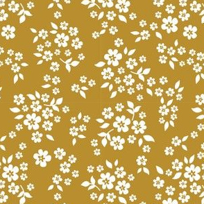 whimsy floral mustard