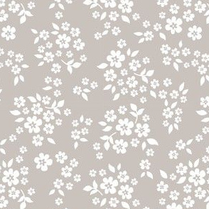 whimsy floral warm gray