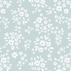 whimsy floral baby blue