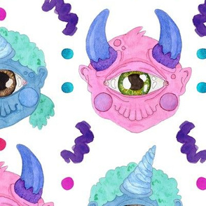 Large Scale Pastel Cyclops Cuties