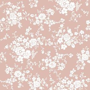 vintage floral baby pink